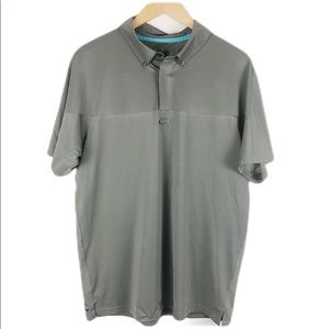 Men's gray Oakley collared shirt size M